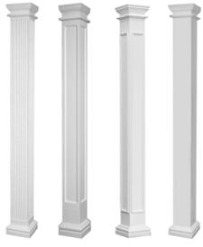 Square Porch Columns Fiberglass Columns