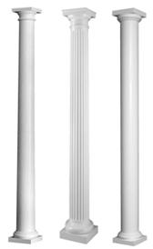 Round Porch Columns Fiberglass Columns