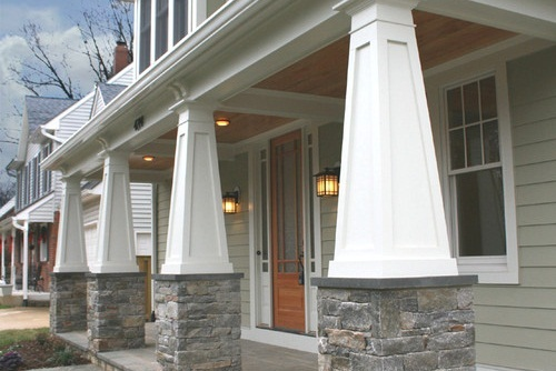 Tapered Porch Columns Custom PVC Column Wraps