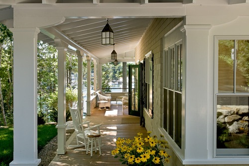 Low maintenance backyard design ideas the home depot - Non Tapered Porch Columns Custom Pvc Column Wraps