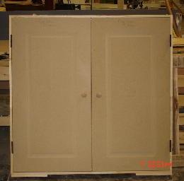 Raised Panel Bored \u0026 Mortised for Std. lockset & Dormer Doors - Custom Dormer Doors and Hatches